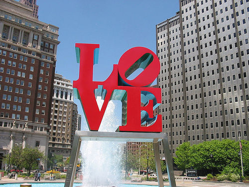 photo of LOVE statue in Philly park
