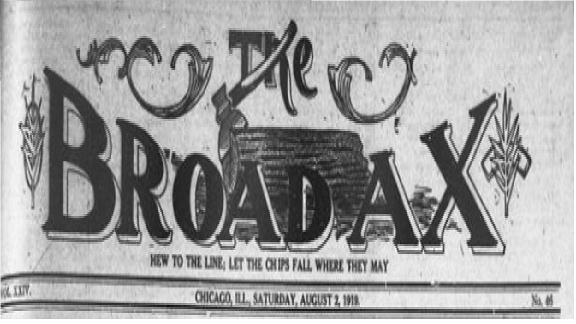 Broad Ax Newspaper Logo