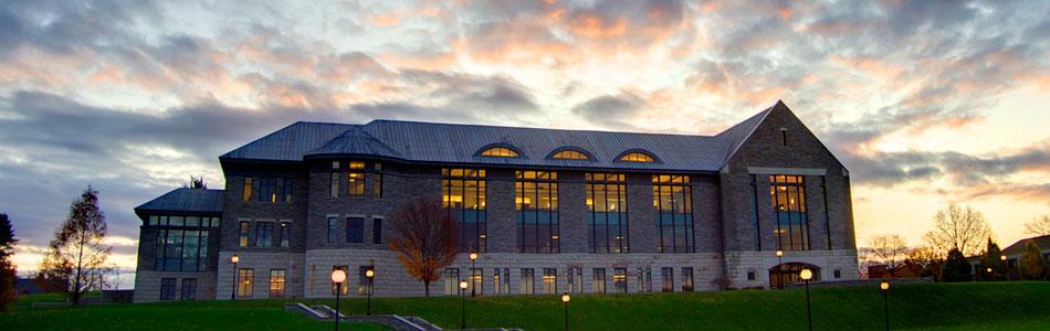 James A. Cannavino Library at sunset