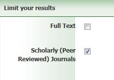 Peer reviewed limit