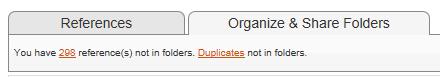 Organize Folders tab
