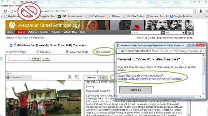 Screenshot of where to locate the Permalink option.