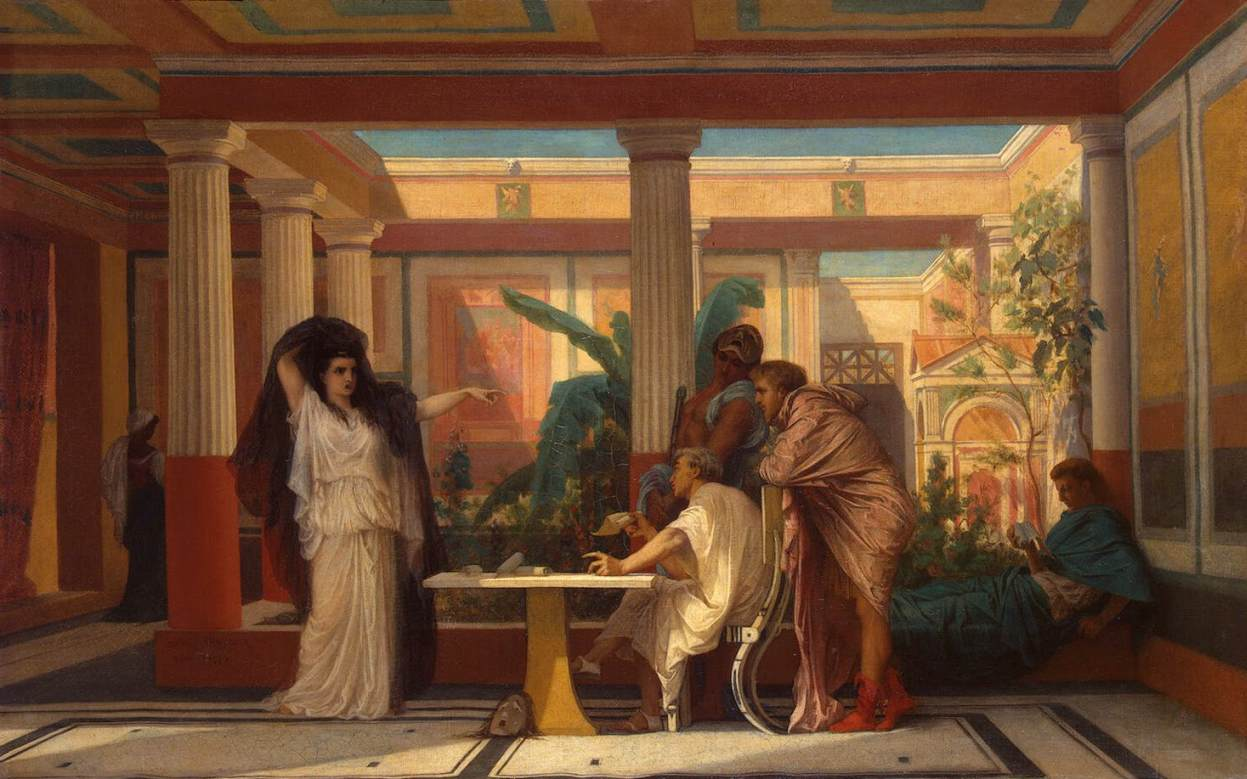 Theatrical Rehearsal in the House of an Ancient Rome Poet by Gustave Boulanger