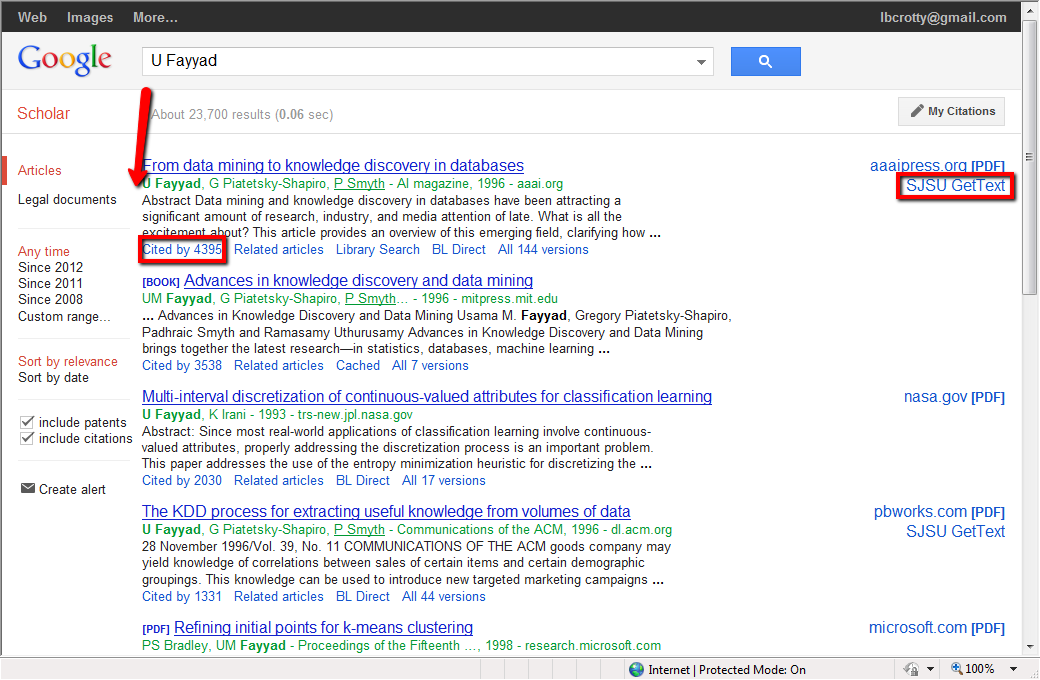 Google Scholar Author Search