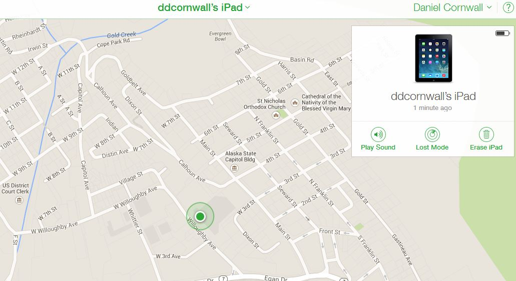 Map with iPad