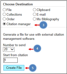 Click 'File' in Choose Destination section and click 'MEDLINE' in format section