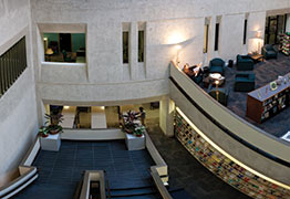 View of Sherrill Library from inside