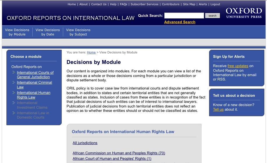 Oxford International Human Rights