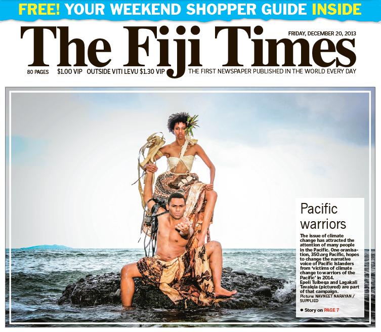 Cover of the 'The Fiji Times'