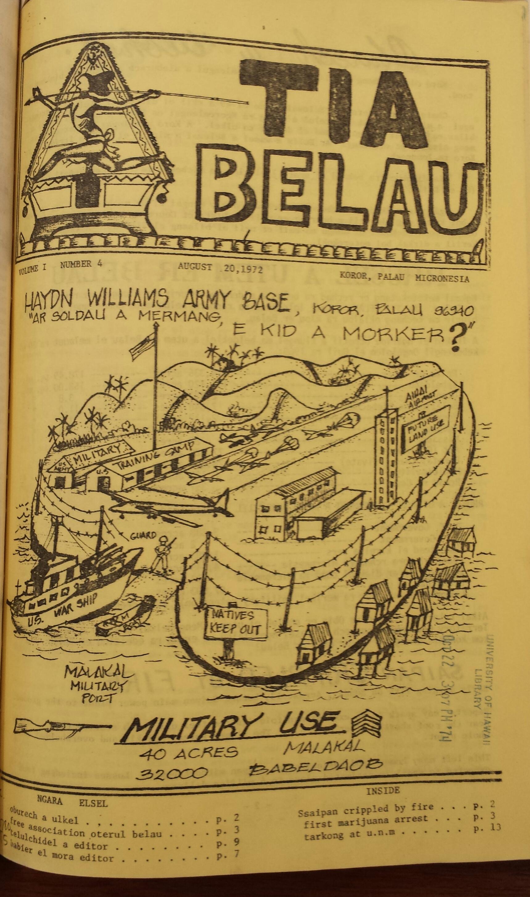 Cover of the 'Tia Belau (Historic)'