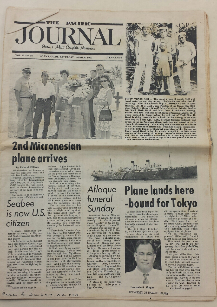 Cover of the 'Pacific Journal'