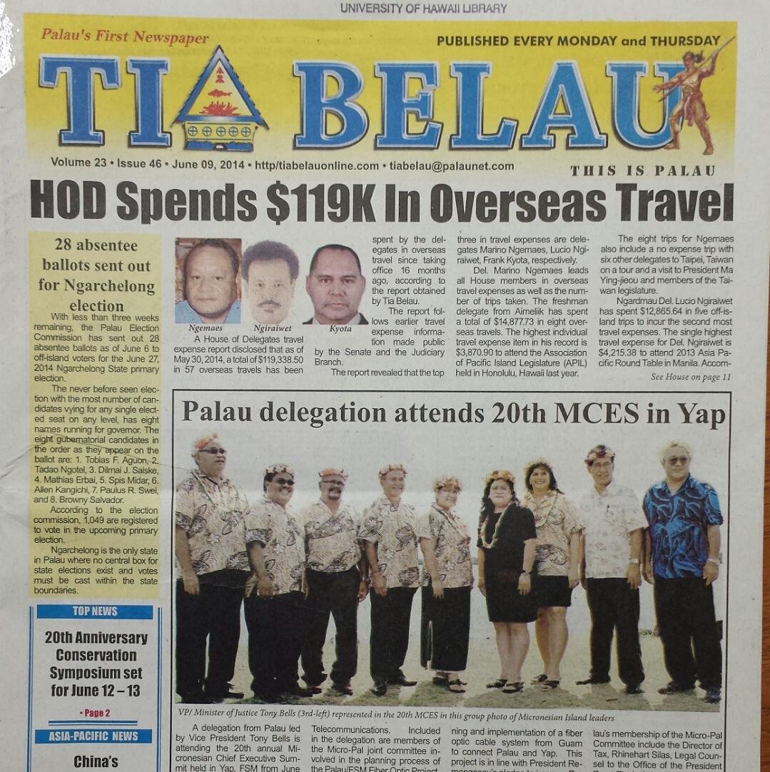 Cover of the 'Tia Belau'