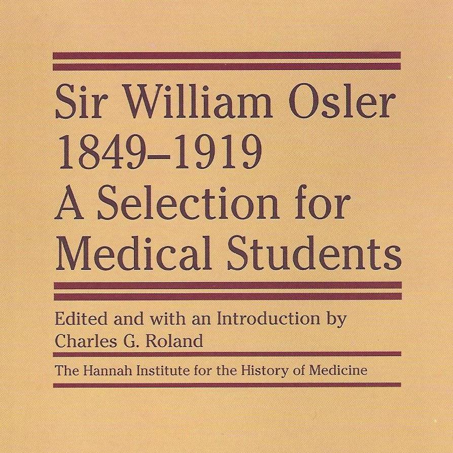 A picture of the cover of Dr. Osler's book, a collection of essays