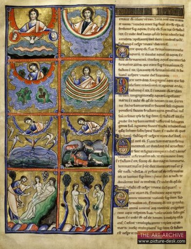 Illustration from the Souvigny Bible