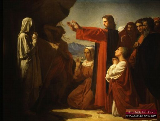Resurrection of Lazarus painting