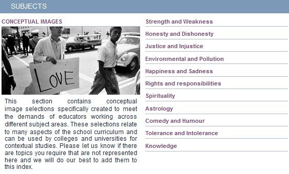 Example of a Bridgeman Education Subject Guide