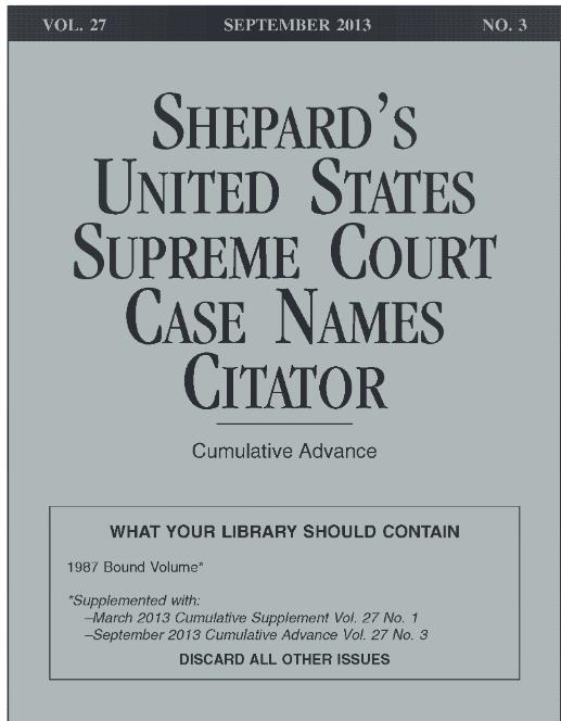 Shepard's US Case Citator
