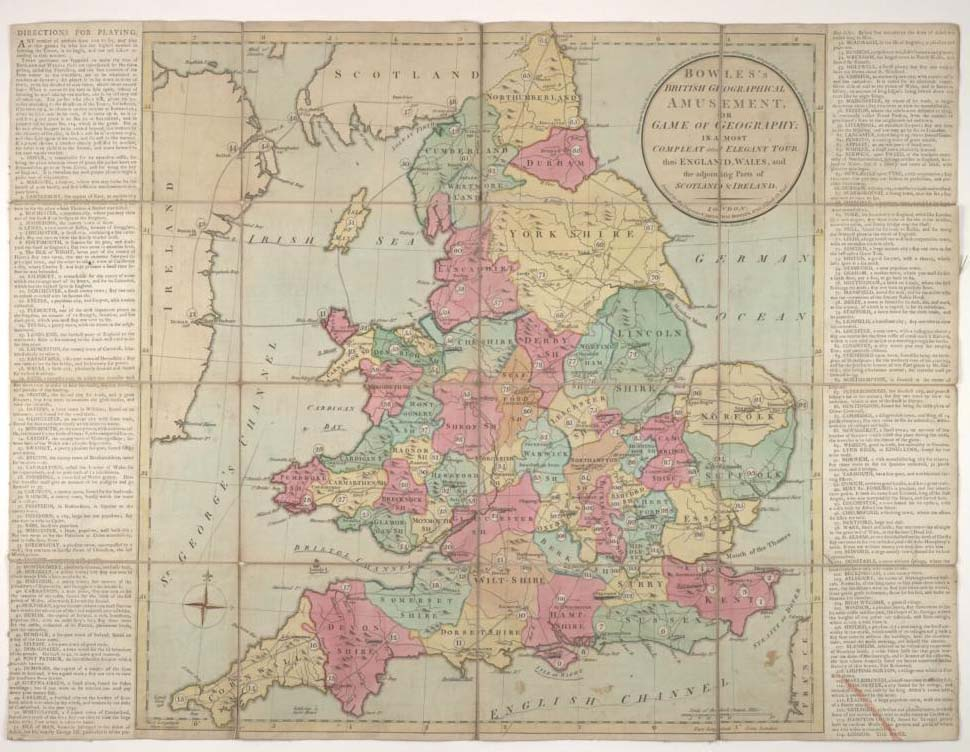 Bowles's British geographical amusement. John Johnson Collection, Bodleian Library