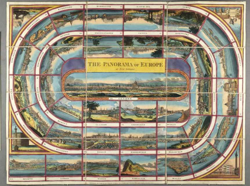 Panorama of Europe (board game). John Johnson Collection, Bodleian Library
