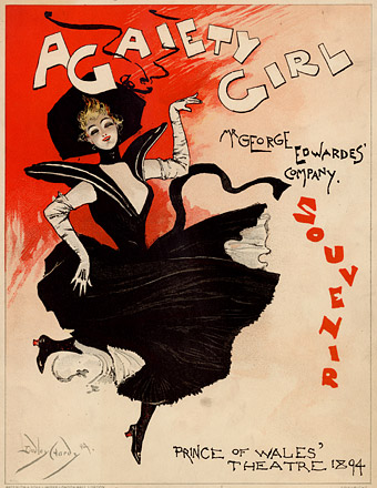 Cover by Dudley Hardy of the theatrical souvenir for A Gaiety Girl