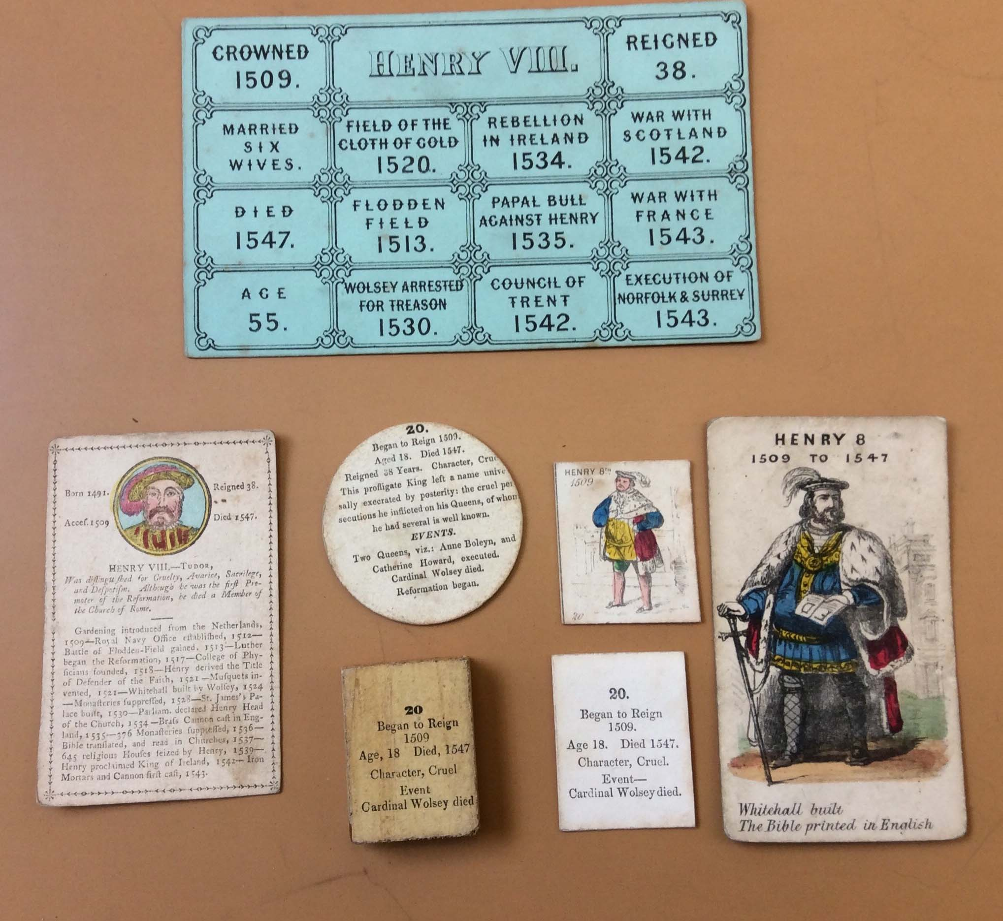 Various interpretations of the character and achievements of Henry VIII from the Ballam Collection