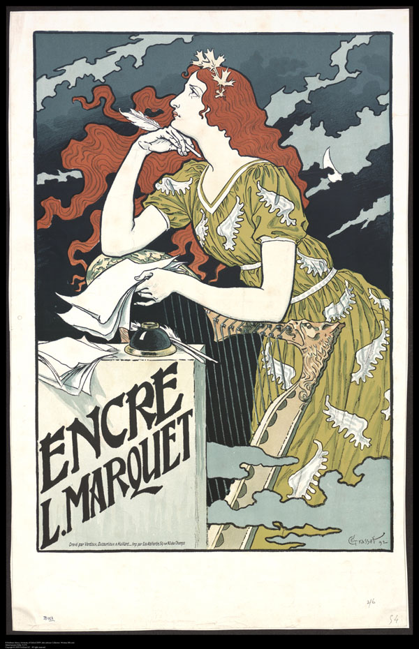 Window bill for Encre L. Marquet, by Eugene Grasset, 1892