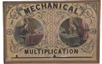 Mechanical multiplication (game), 1880s. John Johnson Collection, Bodleian Library