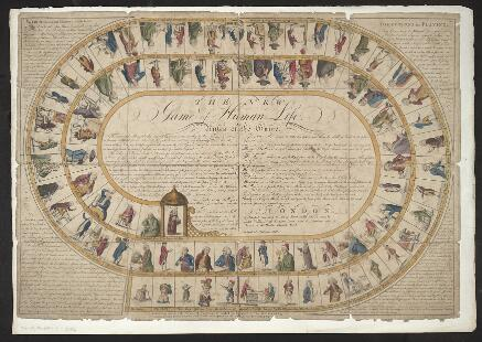 The New Game of Human Life (board game) published by John Wallis and E. Newbury in 1790
