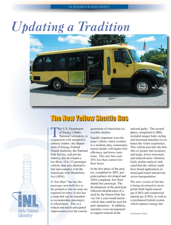 Updating a Tradition: The New Yellow Shuttle Bus (PDF)