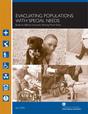 Image links to the publication, Evacuating Populations with Special Needs (PDF)