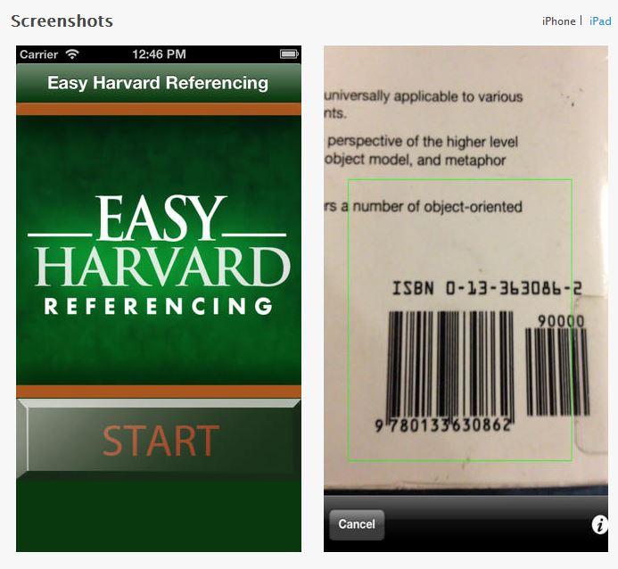 Harvard iPad app