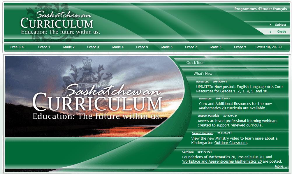 Saskatchewan Curriculum