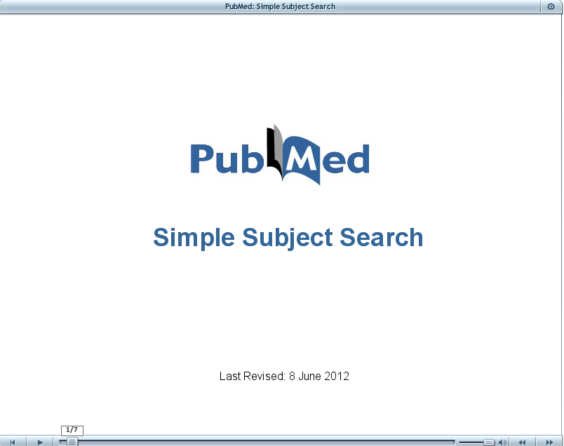 Simple subject search