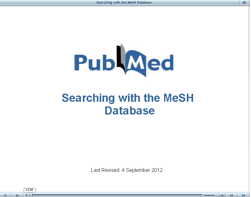 Searching with the MeSH database