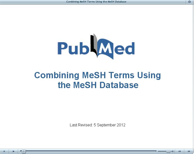 Combining MeSH terms using MeSH database