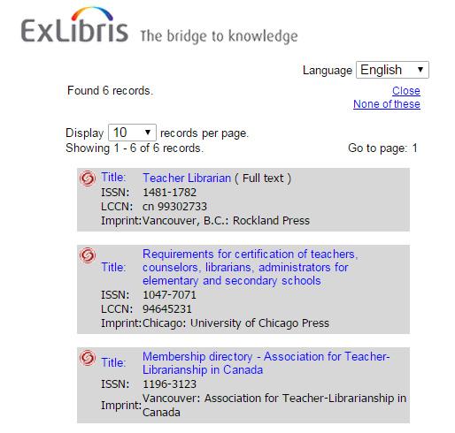 Citation Results List