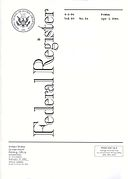 federal register cover