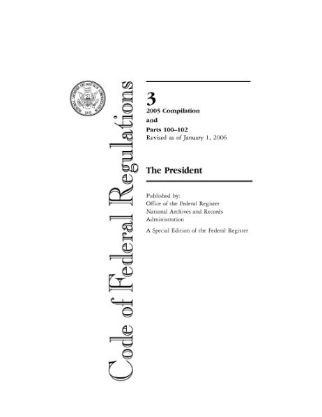 code of federal regulations cover