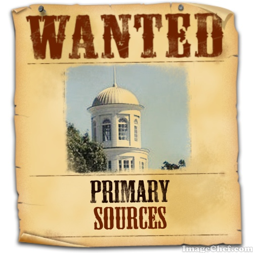 Wanted poster for primary sources