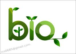 "Image of ""Bio"" in green with leaves sprouting out of letter"