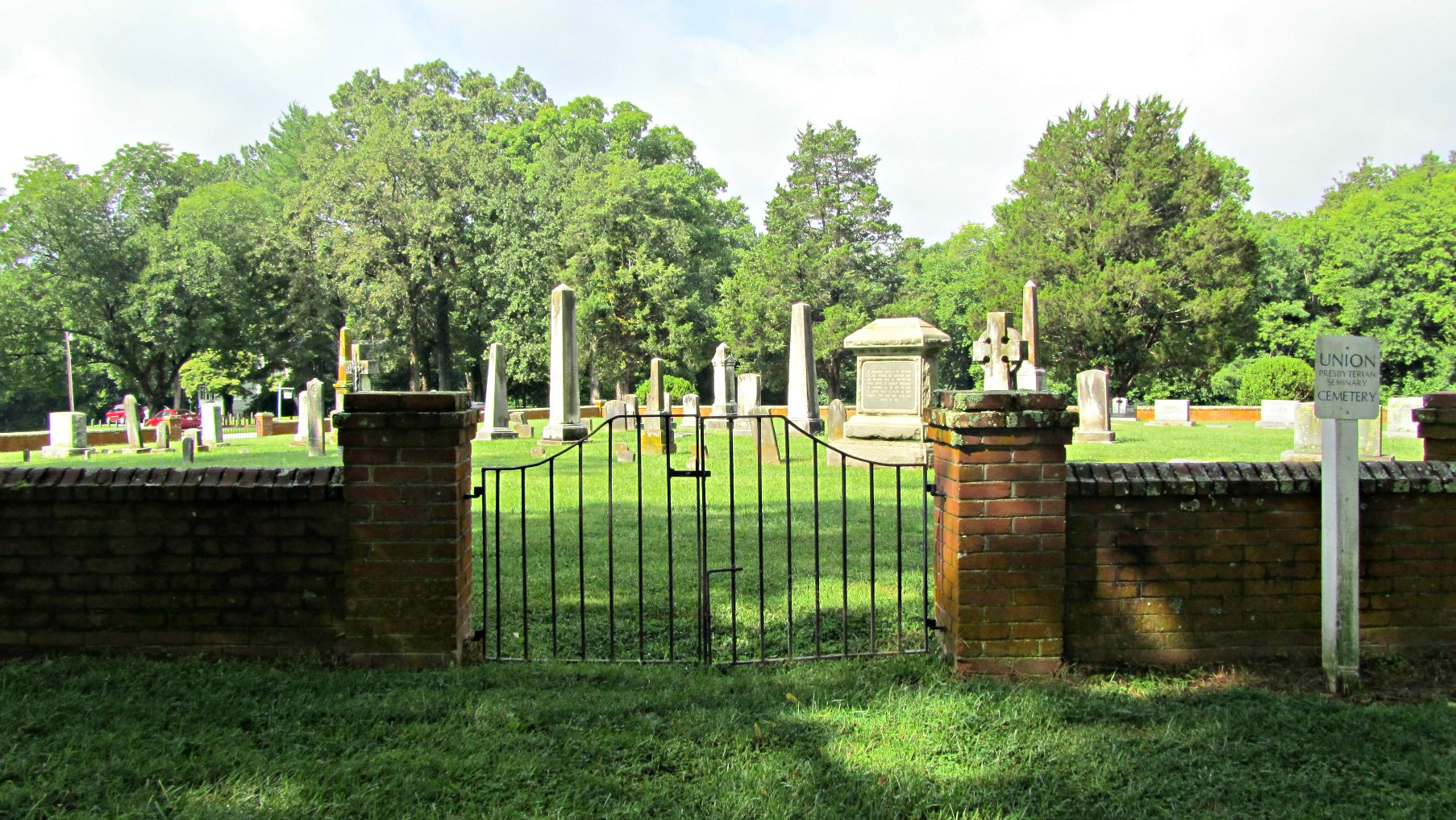 Cemetery View and Sign