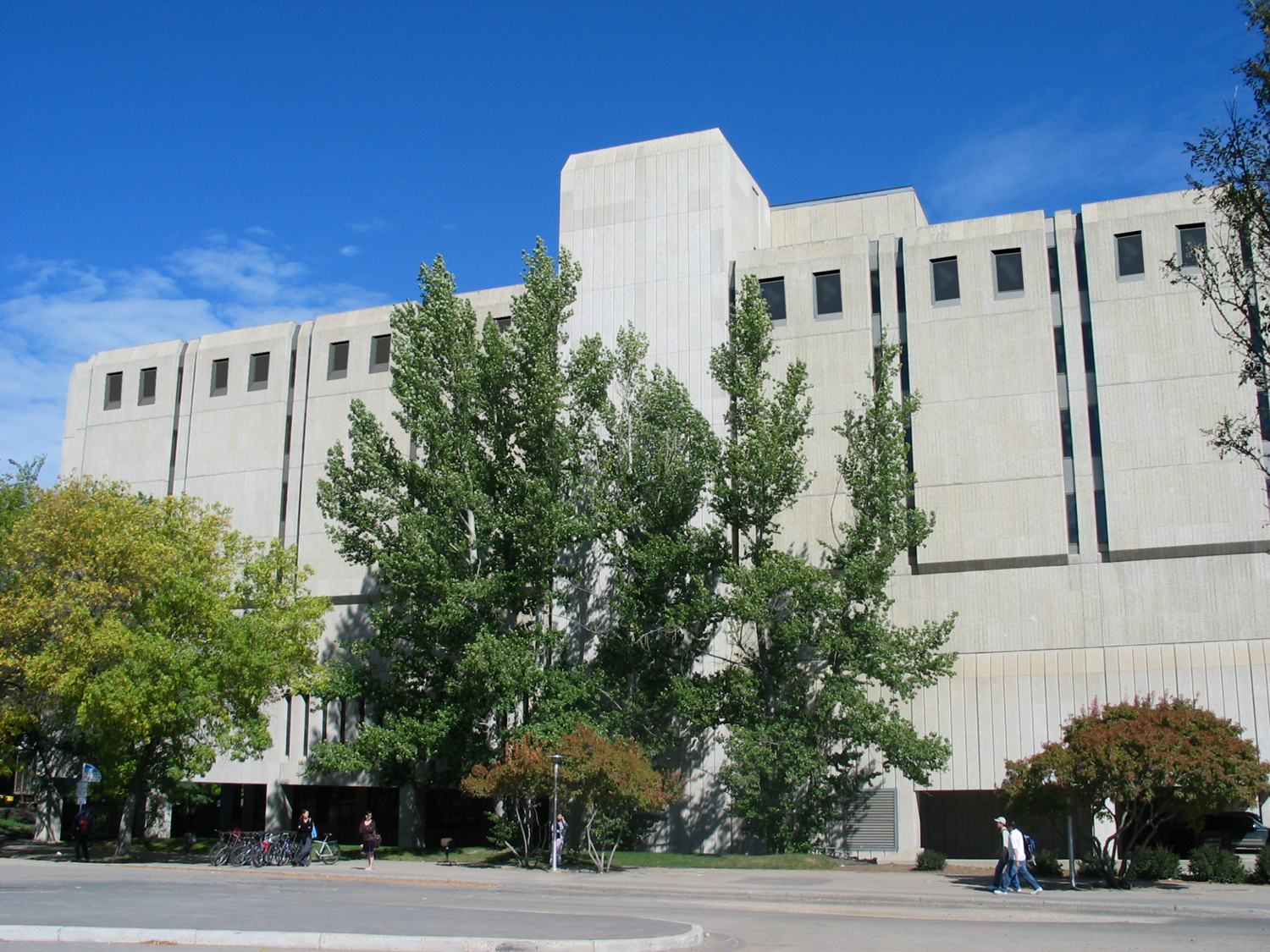 Murray Library building exterior, as seen from across the street