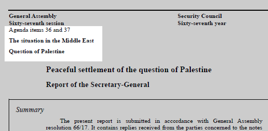 Agenda item on a UN document