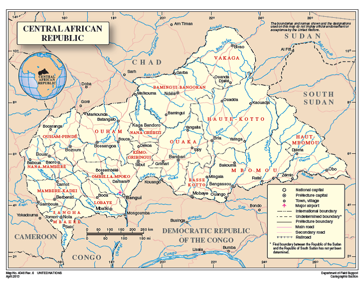 Maps of the Central African Republic