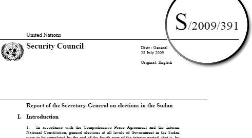 image of UN document showing the symbol in the right corner