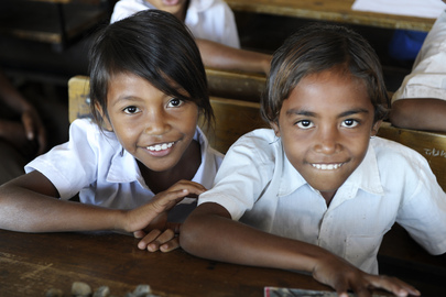 Secretary-General Visits Primary School in Timorese Capital Dili. Secretary-General Ban Ki-moon visited the Cassait Primary School in the Liquica district of Timorese capital Dili. Children at their desk in a classroom at the school. 16 August 2012. Dili, Timor-Leste