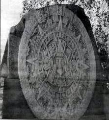 Replica of Aztec Calendar (Sun Stone) located downtown and cast from the original in the National Museum of Mexico Presented to the city of El Paso by Petroleos Mexicanos.