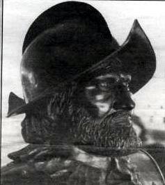 Bust of Coronado located in Coronado High School lobby, El Paso