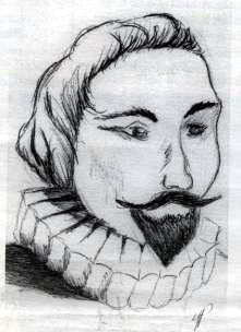 Hernán Cortés Drawing by Yvonne Puentes