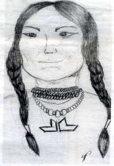 Doña Marina - La Malinche Drawing by Yvonne Puentes